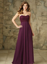 A Line Long Maid Of The Bride Dresses Strapless Bridesmaid Evening Party HD064