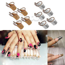 5PCs Nail Forms Acrylic UV Gel Tool French Tips Reusable Art for Home Salon New