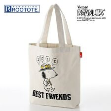 PEANUTS Snoopy Tote Bag Shoulder Purse Handbag Cotton Shopping Pouch Japan E2888
