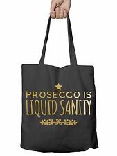 Prosecco is Liquid Sanity Funny Shopper Tote Bag Reusable Gift Shopping Xmas T9
