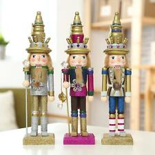 Glitter Walnut Soldiers Christmas Wooden Nutcracker Soldier Xmas Home Decor
