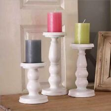 White Metal Pillar Church Candle Holder Sticker Hall Way Wedding Home Xmas Decor
