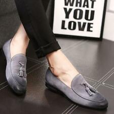 Hot Mens Oxfords Suede Leather Slip On Dress Tassels Casual Oxfords Shoes Loafer