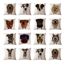 Cute Pet Dog Pattern Throw Pillow Case Decorative Cushion Cover Sham