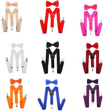 Adjustable Bow Tie Set and Suspender for Baby Toddler Kids Boys Girls Children