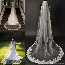 Cathedral Lace Bridal Veil Couture Chapel Wedding Veil Single Layer Accessories