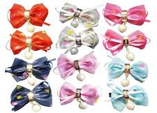 ALIGATOR HAIR CLIPS Of BOW HAIR CLIP PIN RIBBON BOW PAIR CLIPS 7x5