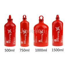 Aluminum Gas Oil Liquid Fuel Container Camping Hunting Picnic Stove Bottle Red