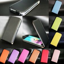 Phone Case For Sony Xperia Series Vertical Flip Genuine Real Leather Skin Cover