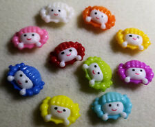 Doll Buttons many colours Sewing Scrap-booking Crafts Art