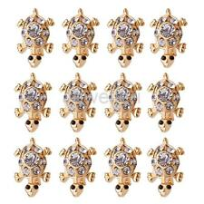 12pcs Crystal Rhinestone Tortoise Brooches Pins For Women Party Accessories