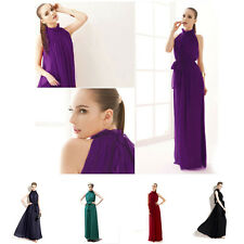 Pageant Beyond Bohemia Long Formal Evening Maternity Dress Prom  Chiffon M99G