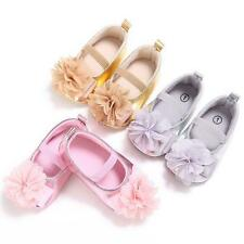 Newborn Baby Girls Infant Crib Shoes PU Flower Soft Shoes Princess Sneaker 0-18M