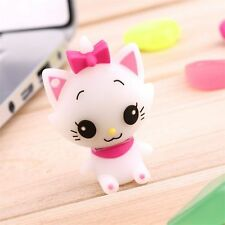 Cute Cartoon Cat Model USB 2.0 Memory Stick Flash Pen Drive 8-32GB Lovely Gift