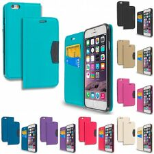 For Apple iPhone 6 6S Plus 5.5 Executive Wallet Flip Case With Credit Card Slots