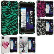 For Blackberry Z10 Phone Accessory Design Hard Snap-On Rubberized Case Cover