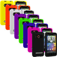 For HTC Sprint EVO 4G Accessory Color Silicone Rubber Gel Skin Case Cover