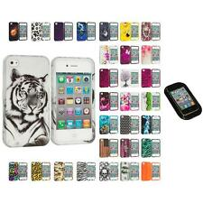 For Apple iPhone 4 4S Hard Design Case Cover Accessory Sticky Pad