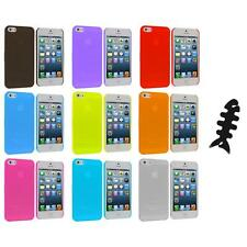 0.3mm Frost Super Ultra Thin Hard Snap-On Case Cover+Cable Wrap for iPhone 5 5S