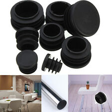 10x Round Plastic Plastic Blanking End Caps Insert Plugs Bung Round Pipe Tube LD