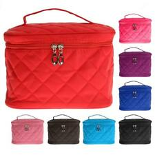 Large Travel Cosmetic Makeup Toiletry Storage Bag Pouch Case w/ Make Up Mirror