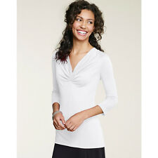 Hanes Signature® Soft Luxe 3/4 Sleeve Pinched Center Top