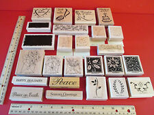 Stampin Up Stamps YOU CHOOSE ONE from this LOT Happiest of Holidays Send a ...