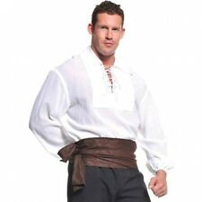 White Pirate Shirt Adult Halloween Costume. Delivery is Free