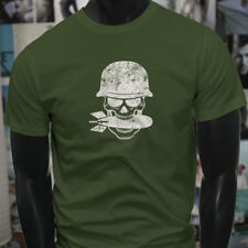 SPECIAL FORCES SKULL  MILITARY MISSILE ARMY NAVY Mens Military Green T-Shirt