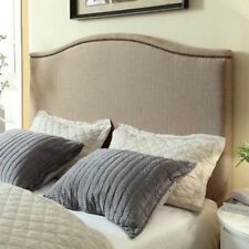Gervais Camelback Headboard - Toast. Free Delivery