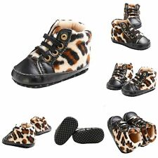 Fashion Toddler Infant Baby Kid Leopard Sneakers Boy Girl Crib Shoes Prewalkers