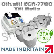 TILL ROLLS TO FIT Olivetti ECR-7700 Cash Register (Thermal Paper Till Rolls)