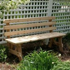 Creekvine Designs Cedar Backed Garden Bench. Delivery is Free