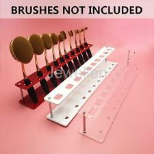 Acrylic Makeup Brush Display Holder Organizer for 10pcs Toothbrush Brush