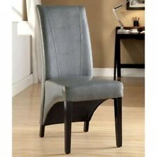 Furniture of America Juxin Leatherette Dining Side Chairs - Set of 2. Delivery i