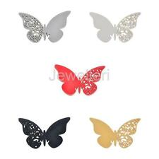 50pcs Butterfly Name Place Cards For Wedding Party Table Wine Glass Decoration