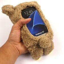 3D Cute Doll Toy Warm Plush Teddy Bear Cover Case For Samsung S7 Edge Note 7 5 4