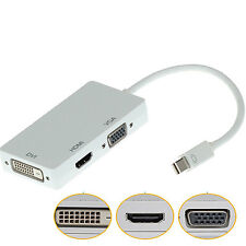DisplayPort DP to VGA HDMI DVI Converter Adapter Cable for Apple MacBook Alert