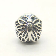 Genuine S925 Silver Lacewing Butterfly Clip Charm