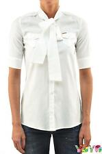 Dsquared2 DS2 Women's SHIRT White Pockets - 40/42 - Made in Italy