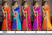 Indian Bollywood Party Wear Saree Sari Designer Bridal Pakistani Wedding Saree