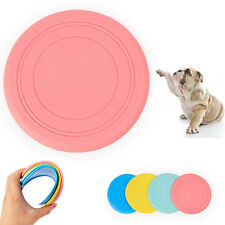 Pet Dog Silicone Flying Saucer Pet Frisbee Toy For Dog Training Fun Outdoor