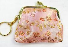 Chinese Embroidery Coin Purse Change Purse Keychain Ships From Canada !!