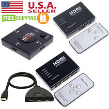 3/5 Port 1080P HDMI Switch Selector Switcher Splitter Hub &Remote for PS3 HDTV K