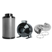 """4"""" 6"""" 8"""" inch  Inline Fan Carbon Air Filter Ducting Combo HPS for Plant Growing"""