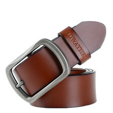 Fashion Cowhide Leather Belt for Men Business Casual Waist Belt Alloy Pin Buckle