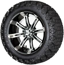 "14"" Madjax Chrome Octane Wheels and X-Trail Tires+GTW Quality Golf Cart Lift Kit"