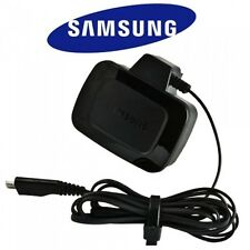 GENUINE SAMSUNG COMPACT MICRO USB 3 PIN UK MAINS CHARGER GALAXY S2 S3 S4 BLACK