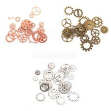 Antiqued Bronze/Silver Mixed Clock Steampunk Gear Pendant Charms 20pcs/17pcs