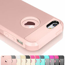 For iPhone 5C Film + Matte Rugged Rubber Hybrid Protective Shell Hard Case Cover